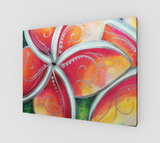 """Tropical Spirit""  Fine Art Canvas Print, Hawaiian Plumeria Spirit Flower by artist © Christie Marie"