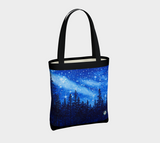 """Chandelier of Stars"" Tote Bag / Purse, Trees and Starry Night Art by artist © Christie Marie"