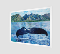 """Sanctuary"" Archival Fine Art Print, Hawaiian Humpback Whale Ocean Art by Artist © Christie Marie"