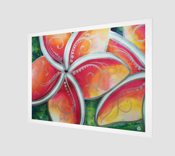 """Tropical Spirit""  Archival Fine Art Print, Hawaiian Plumeria Spirit Flower by artist © Christie Marie"