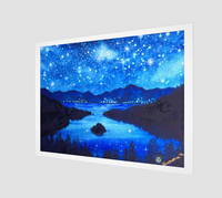 """Emerald Nights"" Archival Fine Art Print / Digital Print, Emerald Bay, Lake Tahoe, Night Stars Art by artist Christie Marie ©"