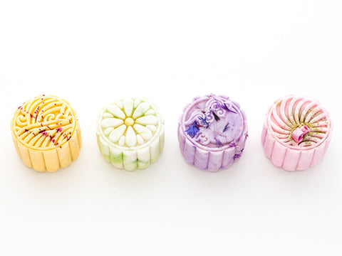 Set of 4 Mini Mooncakes