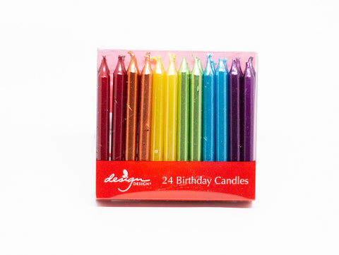 Candles 24-Pack Short Bright Rainbow
