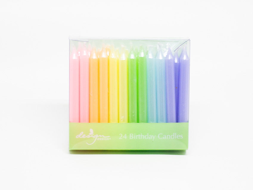Candles 24-Pack Short Pastel Rainbow