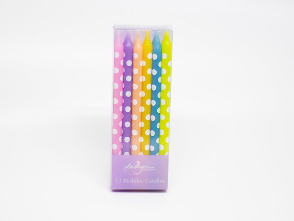 Candles 12-Pack Tall - Pastel
