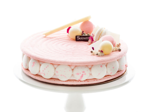 Fine French Rose Macaron Cake Soirette Buy Cakes And Macarons Funny Birthday Cards Online Overcheapnameinfo