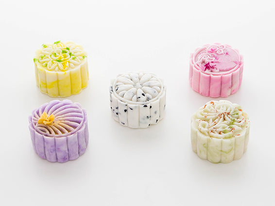 Set of 5 Mini Mooncakes