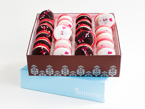 Valentine Macarons - Box of 24