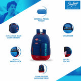 Skybags Astro Nxt 08 Backpack (Blue)