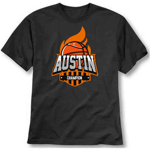 custom tshirt - Basketball-Austin Printed T-Shirt - Bargain Original - BargainPk
