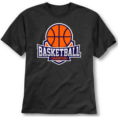custom tshirt - Basketball champion 2 Printed T-Shirt - Bargain Original - BargainPk