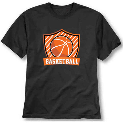 custom tshirt - Basketball Shield Printed T-Shirt - Bargain Original - BargainPk