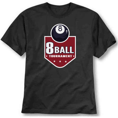 custom tshirt - 8-Ball Snooker Printed T-Shirt - Bargain Original - BargainPk