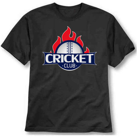 custom tshirt - Cricket club Printed T-Shirt - Bargain Original - BargainPk