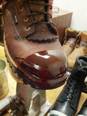 Working boot repair on this Hunting Boot.