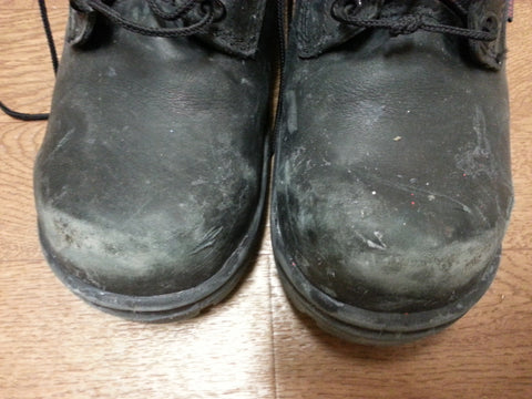 New Redwing Boots already have holes in the toes.