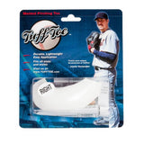 Tuff Toe Pro Molded Pitching Toe Protector. White left cleat