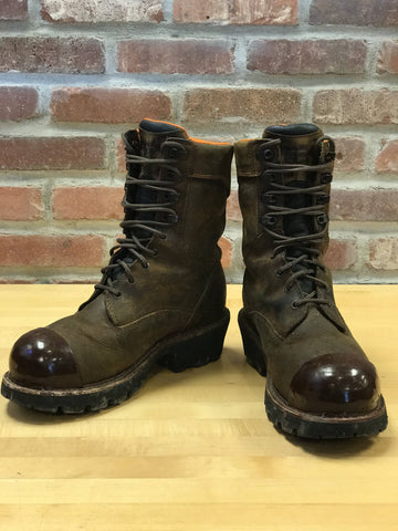 (Brown) TUFF TOE BOOTS v2: -Work Boot Toe Guard & Boot Saver Protection
