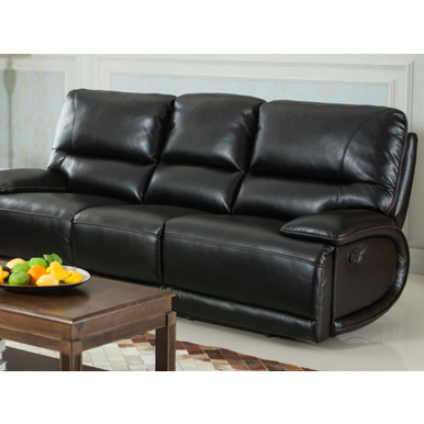 Aurora  Leather  Reclining Sofa-Furniture-Smith&Myers Furniture