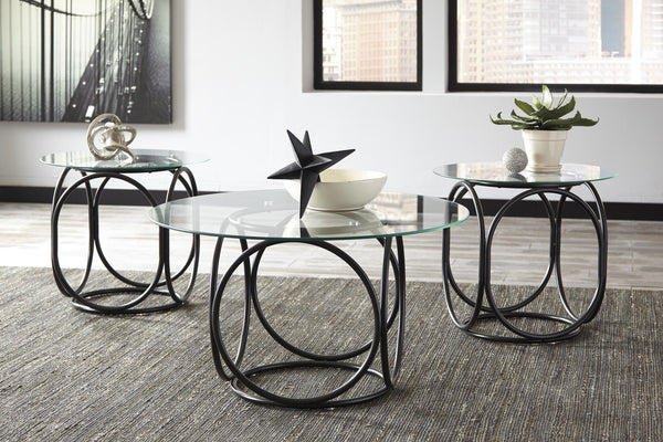 Ashley Furniture Quassey 3 Pc Cocktail Table Set