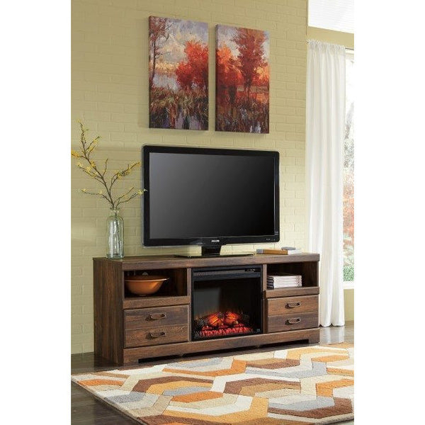 Ashley Quinden TV Stand W/Fireplace