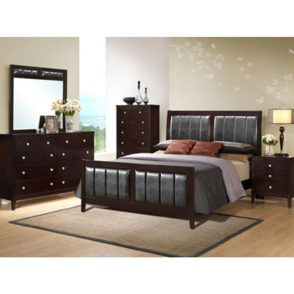 Affordable five piece bedroom set.