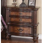 Caesar Dark walnut nightstand-Furniture-Smith&Myers Furniture