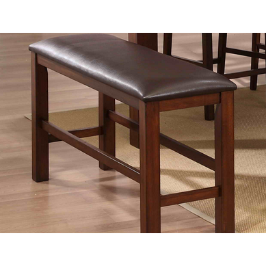 Diamond Collection Walnut Counter Height Bench-Furniture-Smith&Myers Furniture