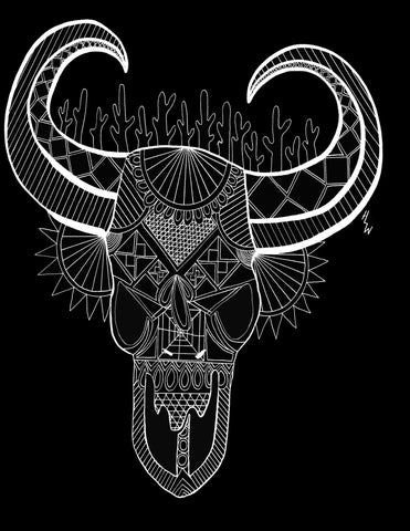 Arizona Skull T-Shirt - Hannah Left Wright Art