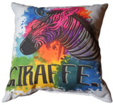 Giraffe Throw Pillow Designed By Hannah Left Wright