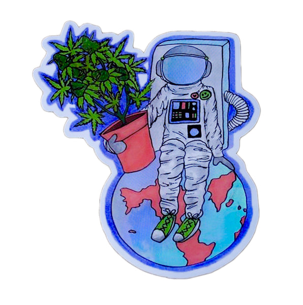 Astronaut Holographic Sticker