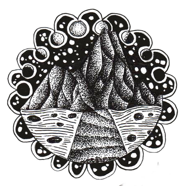 Sedona Vinyl Black & White Sticker