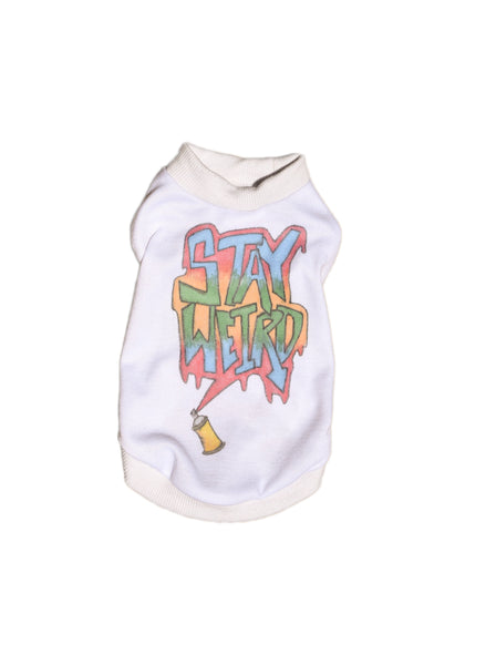 Small Stay Weird Dog Shirt