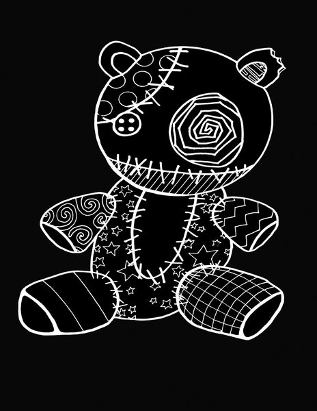 VooDoo Bear T-Shirt - Hannah Left Wright Art