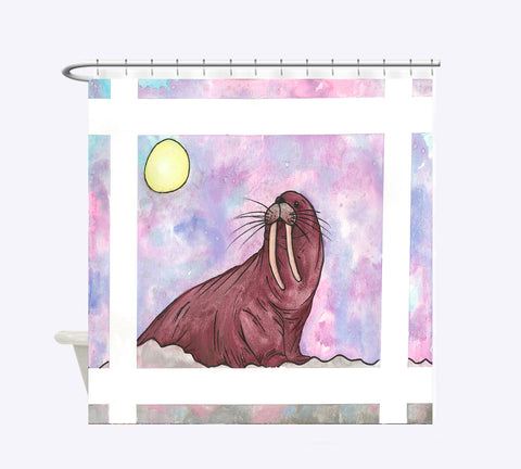 Walrus Shower Curtain