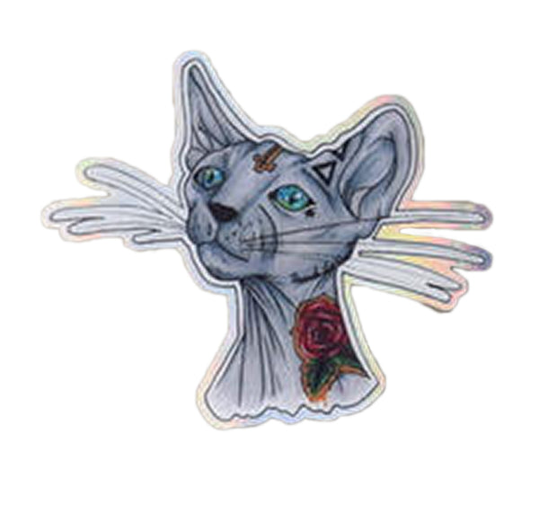 Cool Cat Holographic Sticker