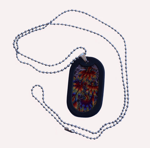 Dazed Dog Tag With Chain