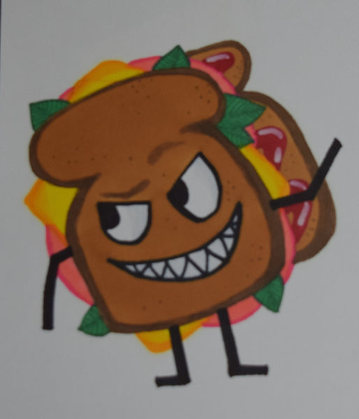 Evil Sammich Drawing By Hannah Left Wright