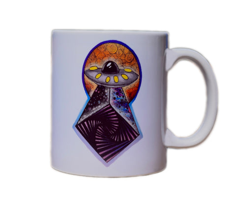 Faded Space Spaceship Mug