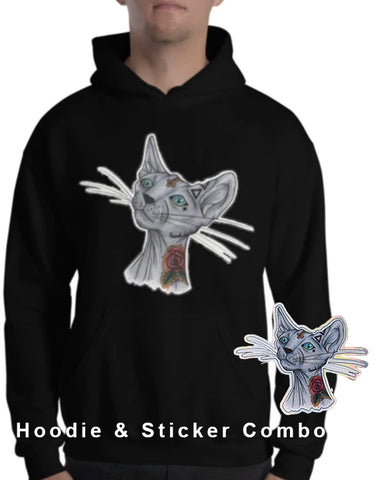 Cool Cat Hoodie & Sticker Combo