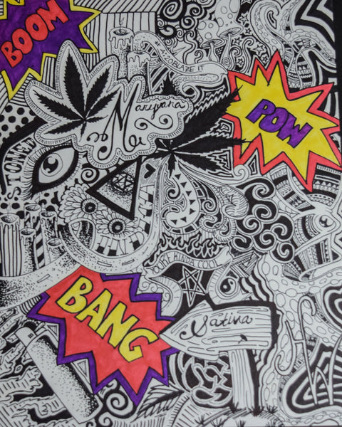 Loud Onomatopoeia Drawing By Hannah Left Wright