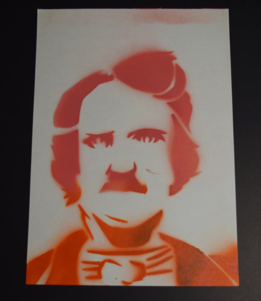 Red Poe Spray Paint Art By Hannah Left Wright