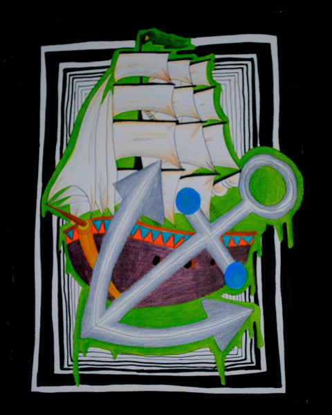 Sail Away Original Art by Hannah Left Wright Art