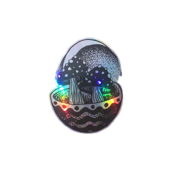 Shroom Party Holographic Sticker