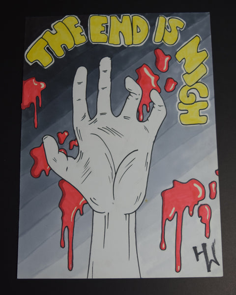 The End Is Nigh Drawing By Hannah Left Wright