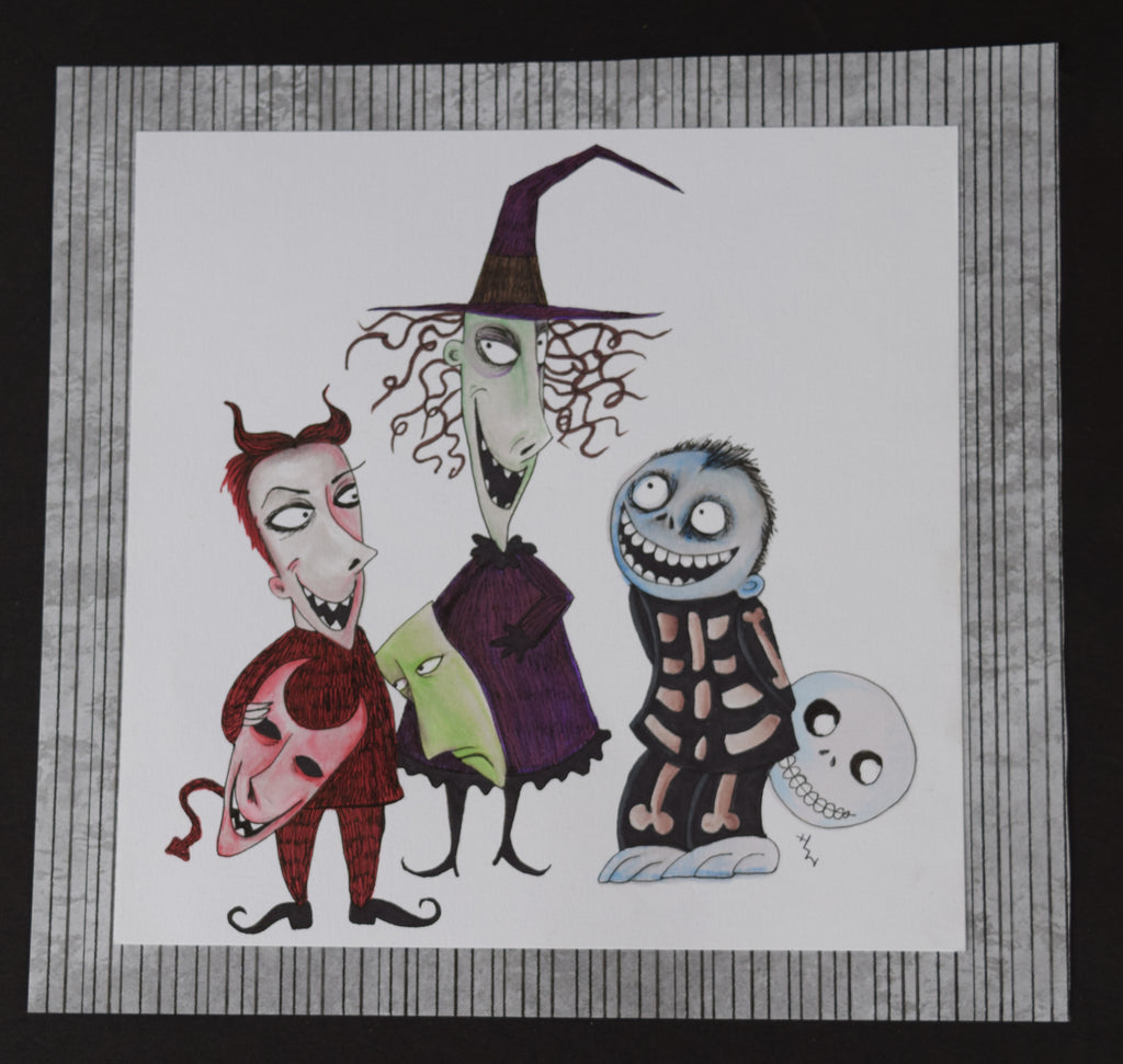 Nightmare Before Christmas Illustration.The Nightmare Before Christmas Trick Or Treaters By Hannah Left Wright