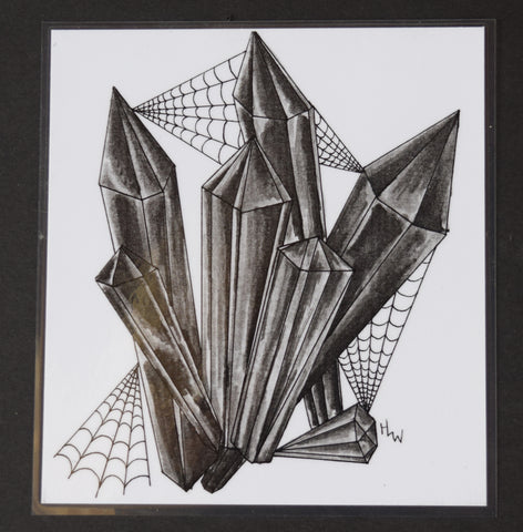 Webbed Crystals Laminated Print