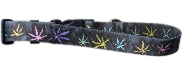 Pot Leaf Adjustable Dog Collar Designed By Hannah Left Wright