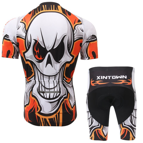 Flaming Skull Short Sleeve Jersey Set