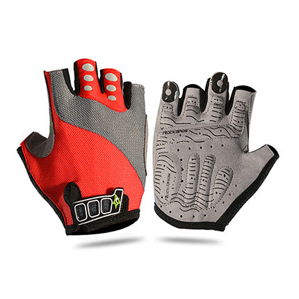 Reflective Half-Finger Cycling Gloves